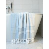 hamamdoek met badstof jeansblauw