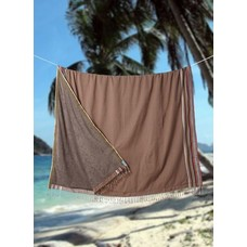PURE Kenya kikoy XL strandlaken dark brown