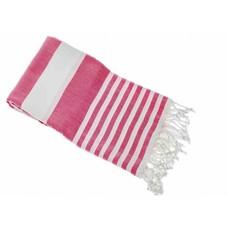Hamams own gestreepte hamamdoek Rayas pink