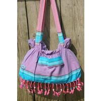 kikoy beach baggie Watamu purple