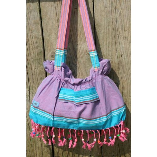 PURE Kenya kikoy beach baggie Watamu purple