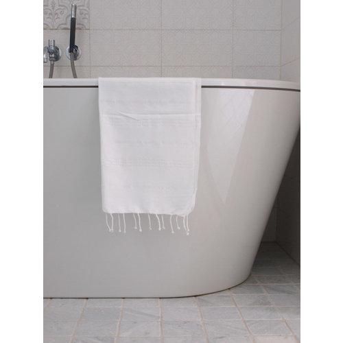 Ottomania hamam handdoek effen wit 100x50cm
