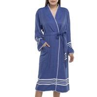 hamam badjas Krem Sultan kimono royal blue