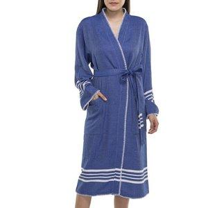 Lalay hamam badjas Krem Sultan kimono royal blue