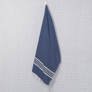 Lalay hamamdoek Krem Sultan royal blue