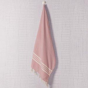 Lalay hamamdoek Krem Sultan rose pink