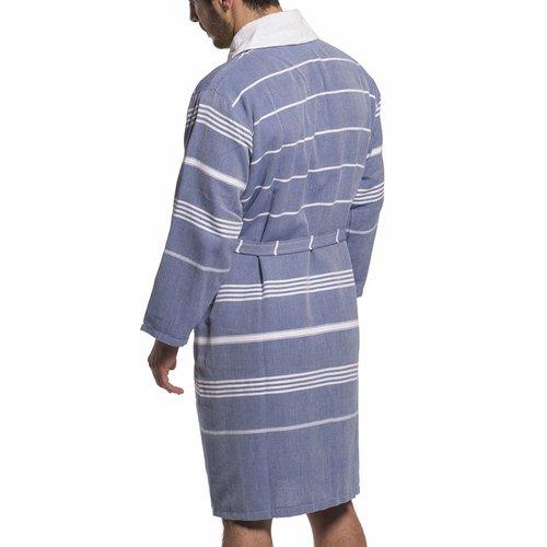 Lalay badstof hamam badjas Costa royal blue