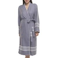 hamam badjas Krem Sultan kimono dark grey