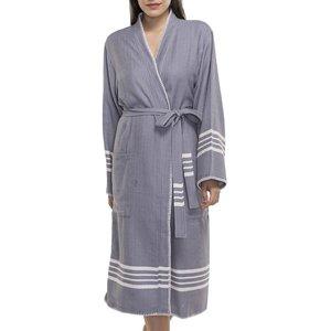 Lalay hamam badjas Krem Sultan kimono dark grey