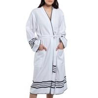 hamam badjas Krem Sultan kimono white black