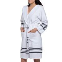 hamam badjas white Sultan black