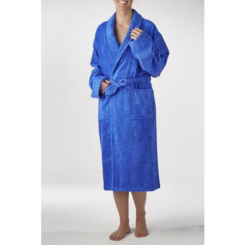 Hamams own bamboe sauna badjas blauw