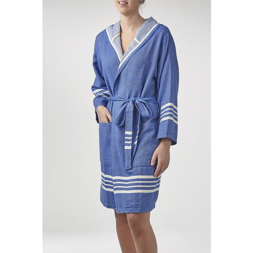Lalay hamam badjas Sun royal blue