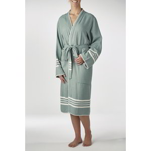 Lalay hamam badjas Krem Sultan kimono almond green