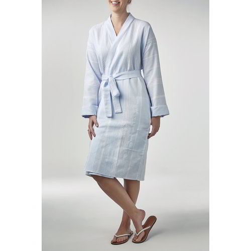 Ottomania hamam badjas lichtblauw S/M