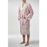 gevoerde hamam badjas Nijl rose pink