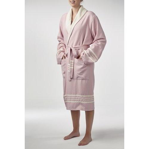 Lalay gevoerde hamam badjas Nijl rose pink