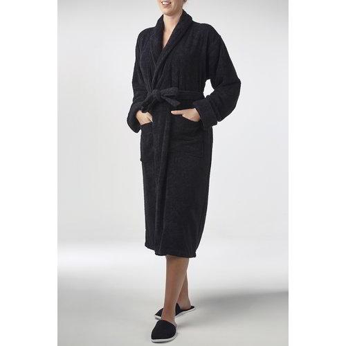 Hamams own bamboe sauna badjas zwart