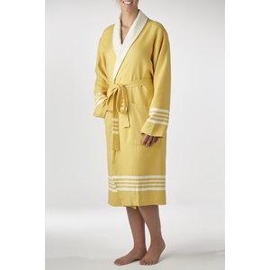 Lalay gevoerde hamam badjas Nijl mustard yellow