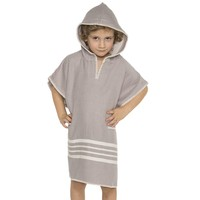 kinder strandponcho hamam light grey