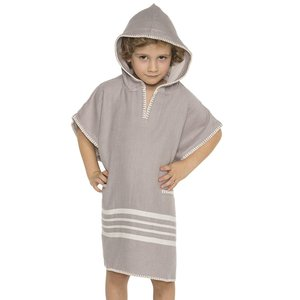 Lalay kinder strandponcho hamam light grey