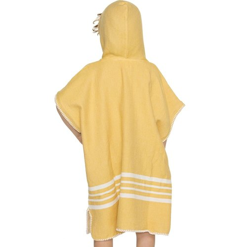 Lalay kinder strandponcho hamam ocher yellow