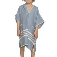 kinder strandponcho hamam air blue