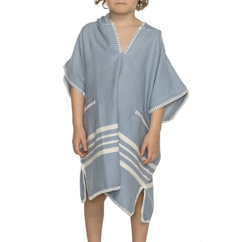 Lalay kinder strandponcho hamam air blue