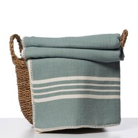 hamam plaid XXL Krem Sultan almond green