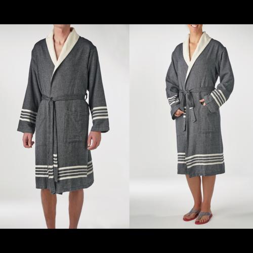Lalay gevoerde hamam badjas Nijl black