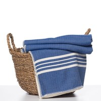 hamam plaid XXL Krem Sultan royal blue