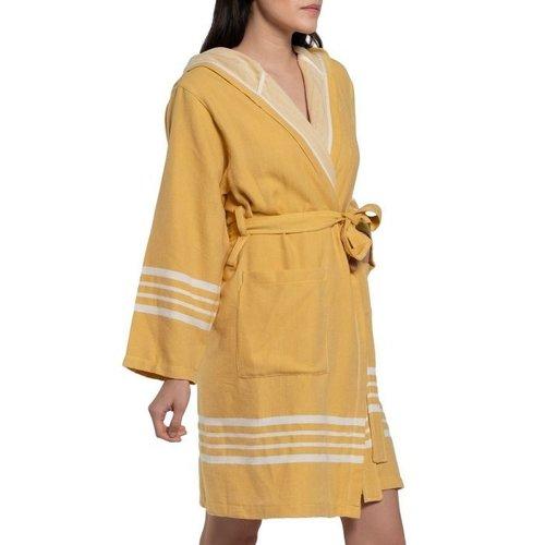 Lalay hamam badjas Sun mustard yellow