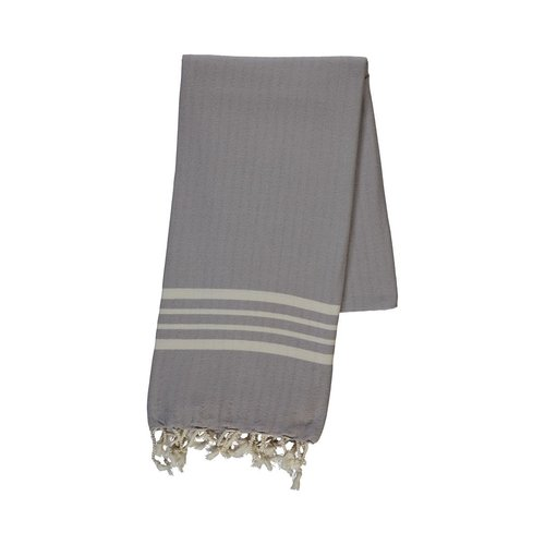 Lalay hamamdoek Krem Sultan light grey