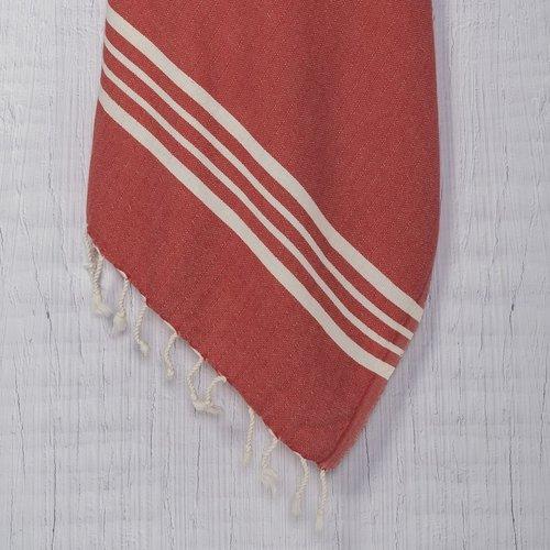 Lalay hamamdoek Krem Sultan red