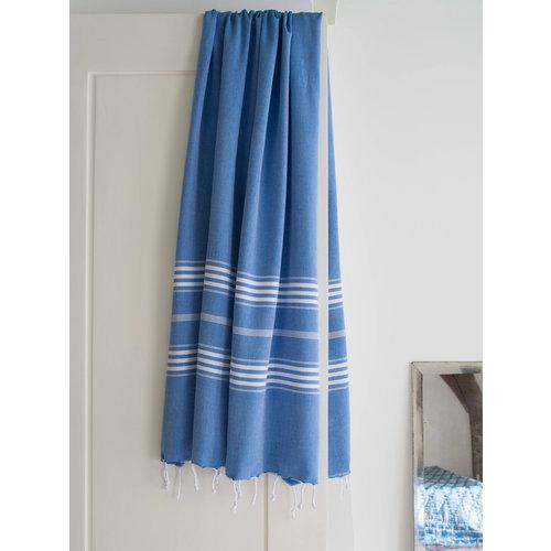 Ottomania hamamdoek XL mediteraanblauw