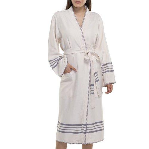 Lalay hamam badjas Krem Sultan kimono natural dark grey