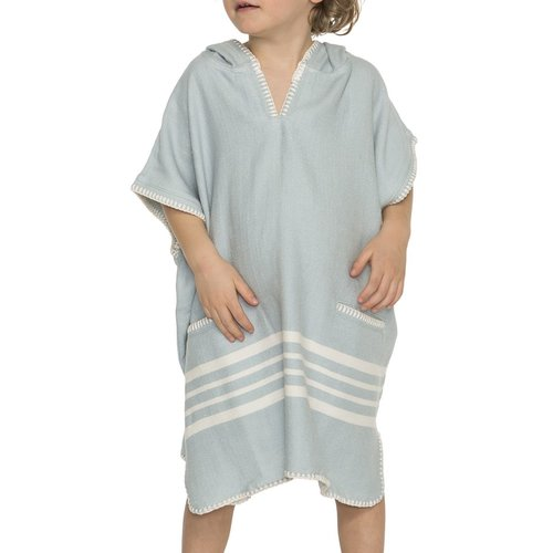 Lalay kinder strandponcho hamam light blue