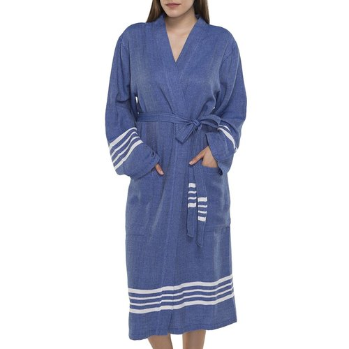 Lalay hamam badjas Krem Sultan royal blue
