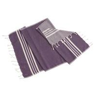 gastendoek Krem Sultan dark purple