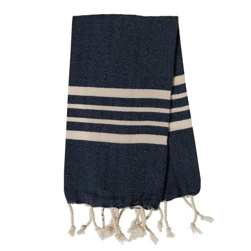 Lalay gastendoek Krem Sultan navy