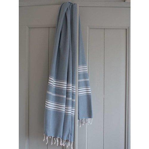 Ottomania hamamdoek XL jeansblauw