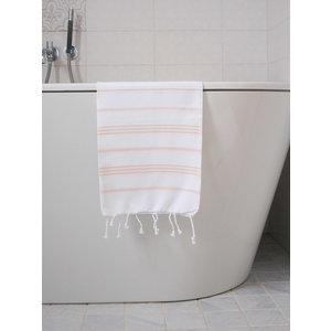 Ottomania hamam handdoek wit perzik
