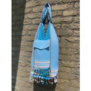 Hamams own Strandtas kikoy XL light blue