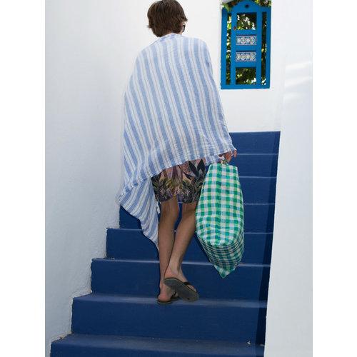 Ottomania pareo grieksblauw