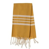 gastendoek Krem Sultan mustard yellow