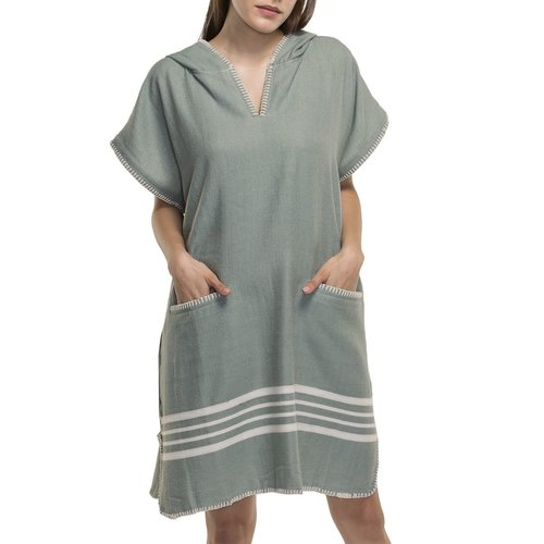 Lalay strandponcho Sultan almond green