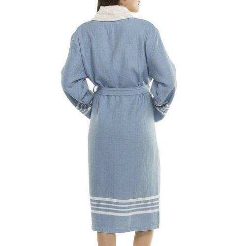 Lalay gevoerde hamam badjas Nijl air blue