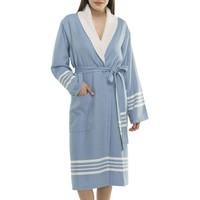 gevoerde hamam badjas Nijl air blue
