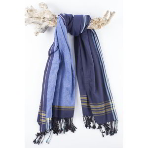 PURE Kenya kikoy strandlaken Kina dark blue