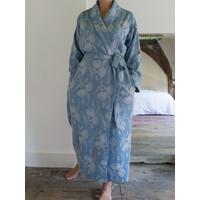 elegante kamerjas grijsblauw